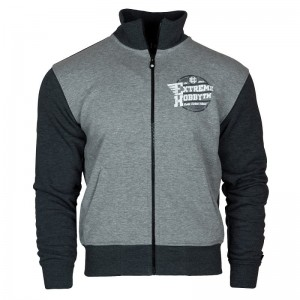 Sweatjacket Extreme Hobby Wings szary